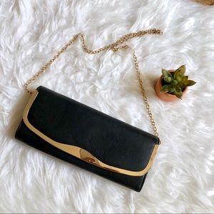 Aldo black/ gold clutch bag